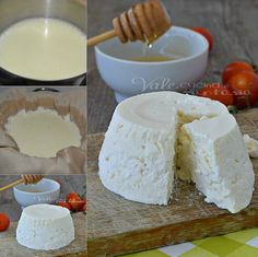 Ricotta fatta in casa Italian Cooking, Italian Recipes, Ricotta, Burritos, Homemade Cheese, Low Carb Breakfast, Low Carb Desserts, Food Illustrations, Diy Food