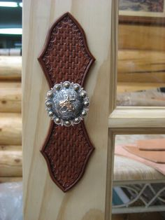 Rodeo Tales & Gypsy Trails: Ranch House Style, a saddle makers home decor IDEA FOR CABINET HANDLES