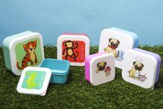 Sada krabiček na svačinu s veselými zvířecími motivy. #lunchbox #krabička #proděti