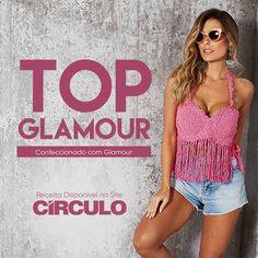As franjas e o romântico tom cor de rosa compõem o Top Glamour. A mistura de fibras e tingimento do fio especial resultam em um brilho discreto, maciez e ótimo caimento. Clique na foto para conferir a receita completa.