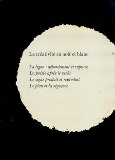 La créativité en noir et blanc, 1973