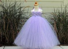 Light Purple Flower Girl Tutu Dress Flower Girl Dress by Gurliglam