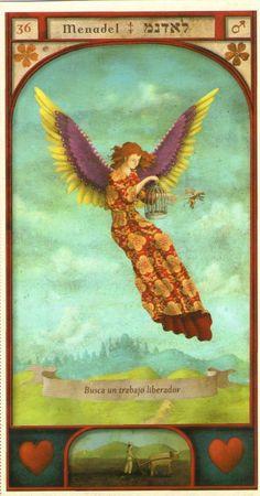 (36) MENADEL (Kabbalistic angel) protects those born 18 - 23 September, helps locate missing persons. (ángel Cabalístico) protege aquellos nacidos 18 - 23 septiembre, facilita la ubicación de personas desaparecidas.