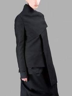 MOOHONG BLACK HIGH-NECK JACKET