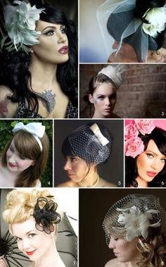 50's Wedding Veils and Fascinators ~ cute!