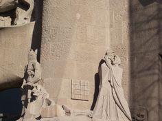 Stone carved figures -Guadi - La Sagrada Familia- Barcelona
