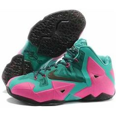 online retailer c31ac 13f1c New Mint Green Pink Mens Basketball Shoes Nike LeBron 11 For Wholesale