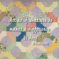 What we do makes a difference! Yes, even the little things mean a lot. Vintage bowtie quilt found in Texas. . . #quilt #quilting #patchwork #quiltville #bonniekhunter #vintagequilt #antiquequilt #deepthoughts #wisewords #wordsofwisdom #quiltvillequote #quote #inspiration #scrapquilt #bowtiequilt