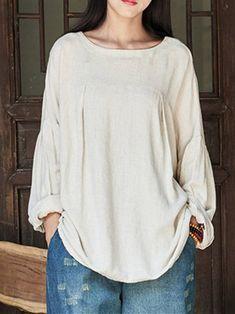 Only US$17.99 , shop Plus Size Vintage Women Cotton Shirts at Banggood.com. Buy fashion Blouses & Shirts online.
