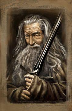 Gandalf recriado por vários artistas