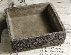$12 Square Cement Pot Wood Planter Box, Wood Planters, Galvanized Buckets, Cement Pots, Growing Succulents, Save On Crafts, Outdoor Crafts, The Bell Jar, Manzanita