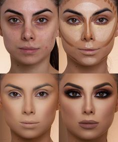 Simple Steps Makeup For Beginners To Help You Look Good .- Simple Steps Make-up for beginners to make you look great trending makeup looks 2019 – Makeup Trends 2019 # 2019 au # - Makeup 101, Makeup Contouring, Makeup Hacks, Eyebrow Makeup, Skin Makeup, Makeup Brushes, Applying Makeup, Gold Makeup, Highlighting Contouring
