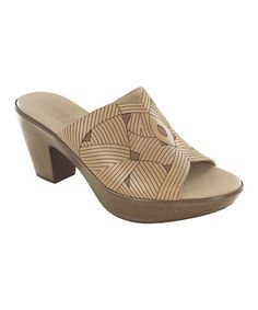 Look what I found on #zulily! Taupe Marisa Leather Slide by Munro Shoes #zulilyfinds