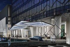0 Modern Entrance, Entrance Design, Main Entrance, Facade Design, Neoclassical Architecture, Hotel Architecture, Architecture Design, Mall Facade, Hotel Canopy