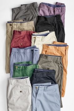 Stride into summer with a pair of J&M pima cotton twill shorts. Stylish Mens Outfits, Casual Wear For Men, Hanging Pants, Clothing Displays, Mens Fashion Wear, Denim Jeans Men, Men Style Tips, Outfit Combinations, Cotton Pants