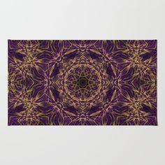 Purple Mandala Hippie Pattern Rug - $28
