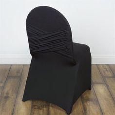 Premium Black Madrid Spandex Banquet Chair Covers For Wedding Restaurant Events Black Chair Covers, Folding Chair Covers, Banquet Chair Covers, Chair Sashes, Chair Backs, Spandex Chair Covers, Handbag Storage, Cheap Chairs, Wedding Chairs