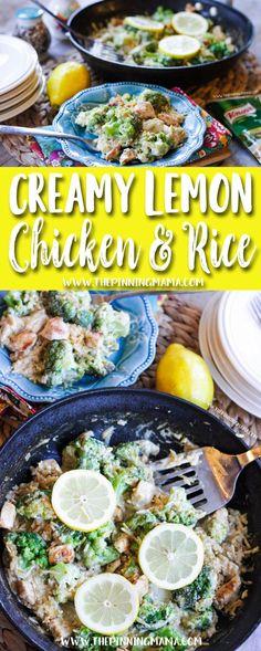 Easy dinner idea - Creamy Lemon Chicken & Rice recipe