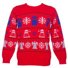 Watch the Christmas special in your Doctor Who Christmas  jumper! The perfect Christmas jumper for Doctor Who fans.  <br />  <br />Featuring a vintage fair isle design with Daleks, the  Tardis and Christmas imagery.