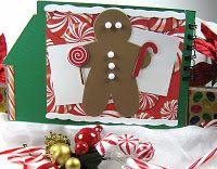 gingerbread man in scrap book