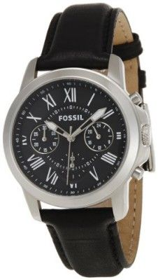 dddf199ae87 Relógio Fossil Men s FS4840 Grant Analog Display Analog Quartz Black Watch   Relógio  Fossil