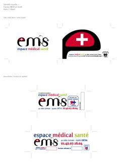 Identité visuelle Espace Médical Santé Paris-Créteil (Design Owen Poho)