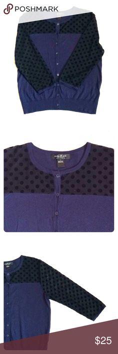 August Silk ILLUSION CONTRAST Cardigan Illusion contrast cardigan- Navy blue, size L August Silk Sweaters Cardigans