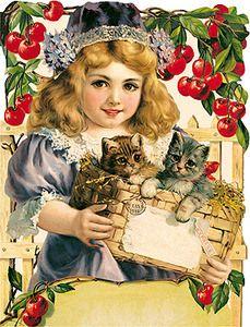 Christmas Postcard,cats