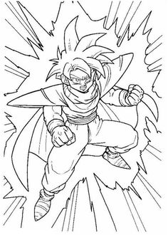 Dragon ball Z coloring pages for kids, printable free