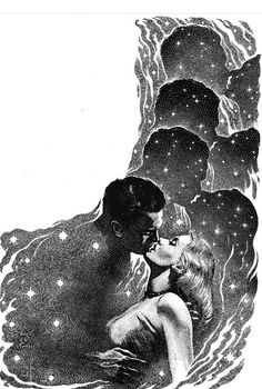 Nuit étoilée, nuit volée. Virgil Finlay, Vulcan's Dolls by Margaret St. Clair, Startling Stories 52-02.