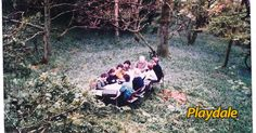 1989 quarterly sales meeting taking place near Playdale HQ in the local coppice wood .surrounded by bluebells! About Uk, The Locals, Playground, Budgeting, History, Wood, Places, Children Playground, Historia