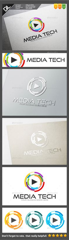Media Tech Logo Template Easy to edit logo template with your own company name with vector for highly resizeable and printing.Feat