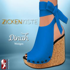 Looking for some spring shoes? Zickenkiste just released Dinah Wedges with 10 vibrant colors. Cream, Mango, Lemon, Kiwi, Blueberry, Plum, Lychee, Raspberry, Grapes and Orange. Compatible with SLink…