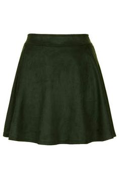 sea green faux suede skirt