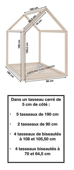 lit cabane interieur schema diy mesure diy a fabriquer soi meme mesure maison ma… bed hut indoor schema diy measure diy to make yourself measure home wooden house for children tutorial Montessori Bed, Diy Bett, Kabine, Cabin Interiors, Childrens Room Decor, Kid Decor, Home Decor, Bedroom Vintage, Kid Beds