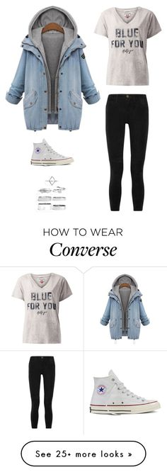 """Untitled #2966"" by twerkinonmaz on Polyvore featuring Tommy Hilfiger, Current/Elliott, Converse and Boohoo"