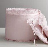 Garment-Dyed Crochet Linen Bumper
