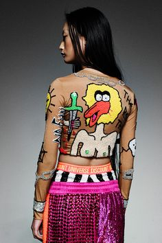 HOME TATTOO SKIN LONG SLEEVE CROP '2014 RUNWAY COLLECTION' | DI$COUNT UNIVER$E Steam Punk, Festivals, Dope Fashion, Womens Fashion, Grunge, Tattoo Skin, Home Tattoo, Kawaii, Traditional Fashion