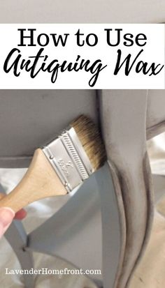 Learn how to use antiquing wax with this easy tutorial. Adding this dark wax will bring that extra interest to your furniture flipping and painting pieces. White Painted Furniture, Furniture Wax, Chalk Paint Furniture, Distressed Furniture, Refurbished Furniture, Repurposed Furniture, Furniture Makeover, Furniture Design, Chair Design