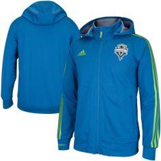 adidas Seattle Sounders FC Sideline Full Zip Hoodie - Sounder Blue
