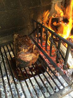Outdoor Bbq Kitchen, Outdoor Kitchen Design, Outdoor Cooking, Beef Rib Steak, Big Steak, Backyard Smokers, Asado Grill, Barbacoa, Fire Grill