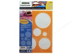 "Fiskars ShapeTemplate are made to use with the Fiskars ShapeCutter and Cutting Mat to quickly and easily cut and create unique paper crafts. Clear template and grid lines makes alignment, cropping and page layout a snap. Great for scrapbooking, card making, paper crafts, school projects and more. Circles #1- This template has seven circles from 1"" to 4"" in size. It also has a scallop border on three sides."