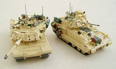 M1A1 Abrams and M2A2 Bradley by Mad physicist, via Flickr