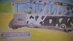 #Histoiresàécrire  #Productiond'écrits #Pédagogie #Éducation Bus, Painting, Pageants, Painting Art, Paintings, Painted Canvas, Drawings
