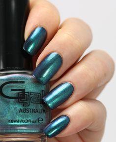 Glitter Gal Hell-Bent Blue over black