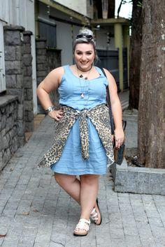 vestido jeans plus size posthaus ju romano