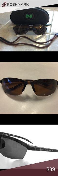 Native Dash SS Polarized 🕶 Singlasses Sporty Designer Sunglasses 😎. NWOT. Perfect Condition. Polarized. Includes Case and Neck Cord Retainer. Brown Tortoiseshell. Native Accessories Sunglasses