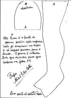 Текстильная кукла.  #Выкройка от Ateliê Titis Costa.