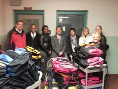 The Andrew Toyota Scion team gives back to Milwaukee Public Schools via Backpack Buddies in 2014!