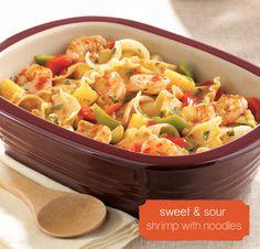 Sweet & Sour Shrimp with Noodles